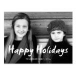 Buenas fiestas el día de fiesta de la foto del tarjeta postal