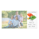 Buenas fiestas el italiano enciende la tarjeta de  tarjetas fotográficas