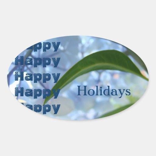 Buenas fiestas el sobre sella tarjetas de las invi calcomania de oval