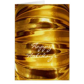 BUENAS FIESTAS en oro chispeante Tarjeta De Felicitación