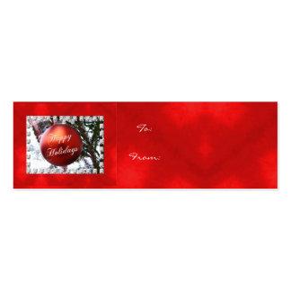 Buenas fiestas etiqueta del regalo del ornamento d tarjetas de visita mini