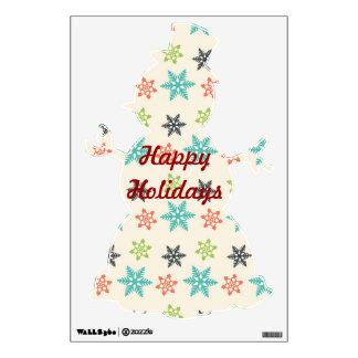 Buenas fiestas etiquetas de la pared del navidad vinilo decorativo