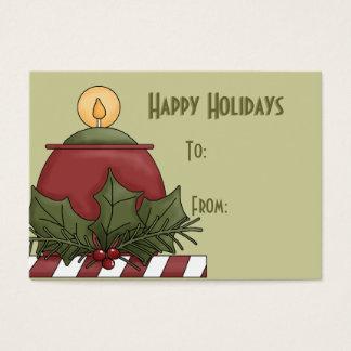 Buenas fiestas etiquetas del regalo tarjetas de visita grandes