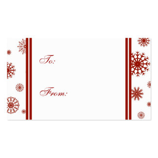 Buenas fiestas etiquetas rojas del regalo de los tarjetas de visita