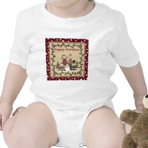 Buenas fiestas familia traje de bebé
