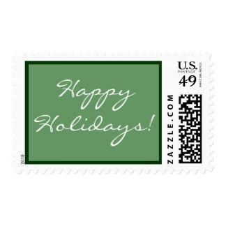 Buenas fiestas franqueo de encargo del día de timbres postales