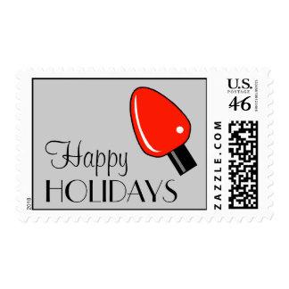 Buenas fiestas franqueo de la bombilla (rojo)