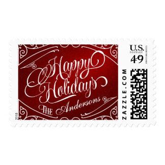 Buenas fiestas franqueo elegante del navidad del sellos