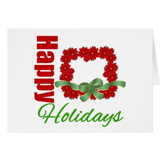 Buenas fiestas guirnalda hermosa (ajustada) tarjeta de felicitación