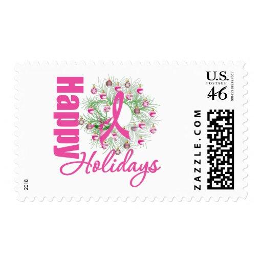 Buenas fiestas guirnalda rosada de la cinta sellos