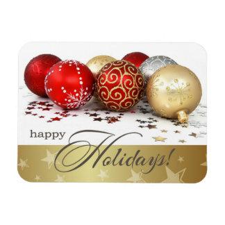 Buenas fiestas. Imán del regalo del navidad