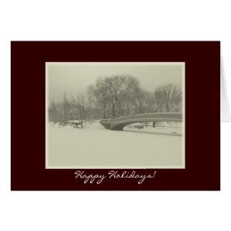 Buenas fiestas - invierno del puente del arco del  tarjetas