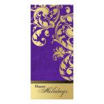 Buenas fiestas invitación del fiesta - púrpura y o tarjeta publicitaria personalizada