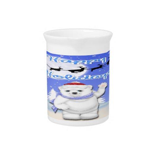 Buenas fiestas jarra del oso polar