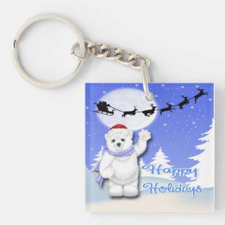 Buenas fiestas llaveros del oso polar