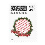 Buenas fiestas marco de la foto del diseño del sellos
