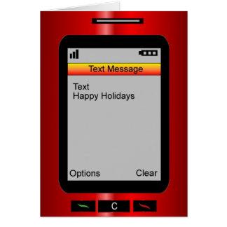 Buenas fiestas mensaje de texto tarjeta de felicitación