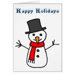 Buenas fiestas muñeco de nieve felicitaciones