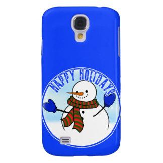 Buenas fiestas - muñeco de nieve feliz w/Mittens d