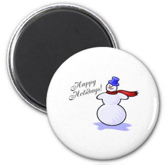 Buenas fiestas (muñeco de nieve) iman