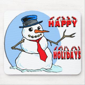 Buenas fiestas muñeco de nieve tapete de raton