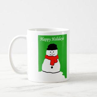 Buenas fiestas muñeco de nieve taza