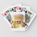 Buenas fiestas naipes de la casa de pan de jengibr baraja cartas de poker