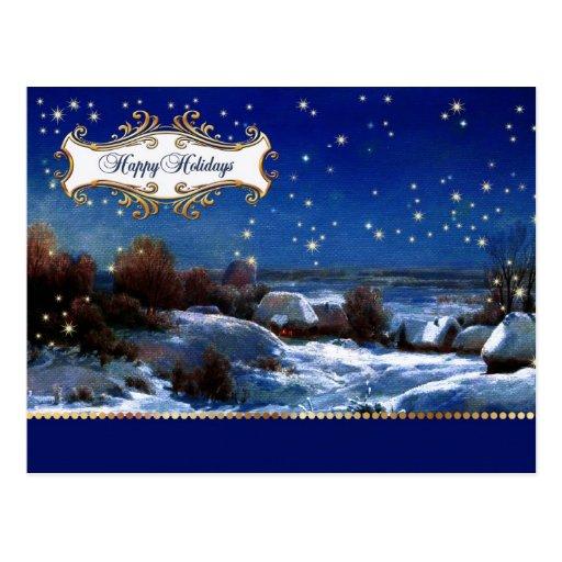 Buenas fiestas. Navidad/Año Nuevo de postales