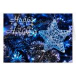 Buenas fiestas - navidad azul felicitacion