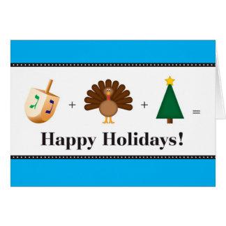 Buenas fiestas (navidad, Jánuca, acción de Tarjeta De Felicitación