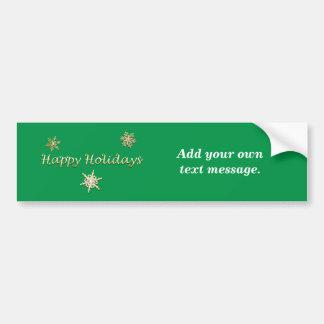 Buenas fiestas navidad pegatina para auto