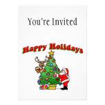 Buenas fiestas navidad que adorna invitaciones personales