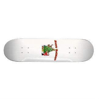 Buenas fiestas navidad que adorna patin