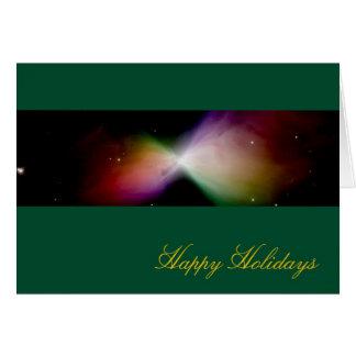 Buenas fiestas nebulosa del bumerán - telescopio d tarjeton