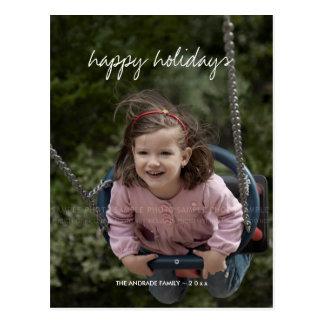 Buenas fiestas niños del personalizado del día de postales