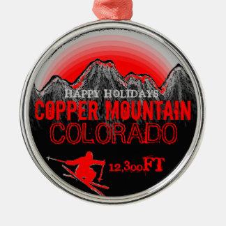 Buenas fiestas ornamento de cobre de Colorado de l Adornos