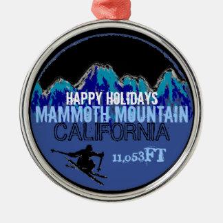 Buenas fiestas ornamento de Mammoth Mountain CA Adornos