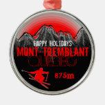 Buenas fiestas ornamento de Mont Tremblant Quebec Ornamentos De Reyes