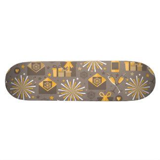 Buenas fiestas oro y modelo de Champán Tablas De Skate