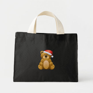 Buenas fiestas oso de peluche bolsa lienzo