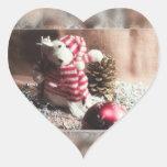 ¡Buenas fiestas oso! Pegatina De Corazón Personalizadas