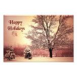 Buenas fiestas paisaje hermoso del invierno cojinete
