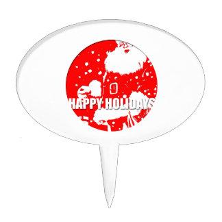 Buenas fiestas - Papá Noel - Palillos De Tarta