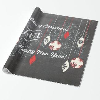 Buenas fiestas papel de embalaje del navidad de la papel de regalo