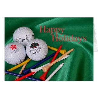 Buenas fiestas para el golfista tarjeta de felicitación