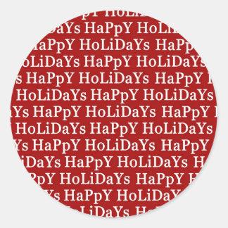 Buenas fiestas pegatina rojo del navidad