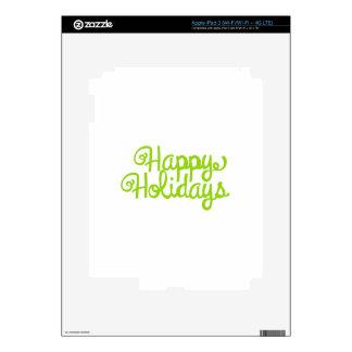 Buenas fiestas pegatinas skins para iPad 3
