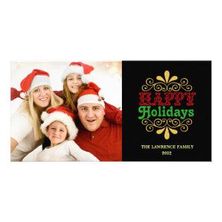 Buenas fiestas Photocards festivo Tarjetas Fotograficas Personalizadas