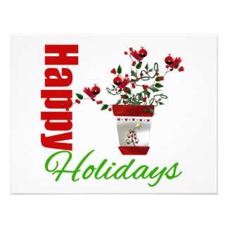 Buenas fiestas planta v3 del navidad invitación personalizada