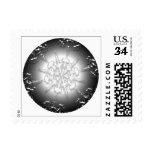 Buenas fiestas postal clasificada sello